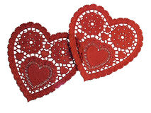 Two Paper Hearts royalty free stock images