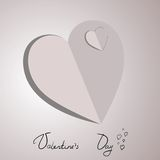 Two paper hearts card Stock Photography