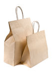Two paper shopping bag on white Royalty Free Stock Images