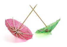 Two paper umbrella Royalty Free Stock Image