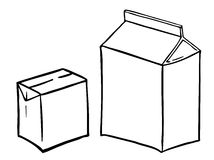 Two paperboard boxs Royalty Free Stock Photography