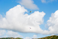 Two para gliders Royalty Free Stock Photography