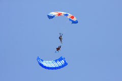 Two Parachute stunt Stock Image