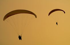 Two parachuters. Stock Images