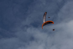 Two Parachutes Royalty Free Stock Photos