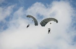 Two Parachutes Stock Image
