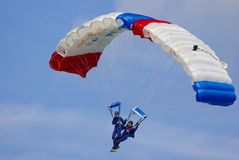 Two parachutists Royalty Free Stock Photo