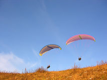 Two paraglider Royalty Free Stock Image