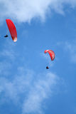 Two paragliders Royalty Free Stock Photography