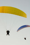 Two paragliders Stock Photography