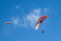 Two paragliders Stock Image