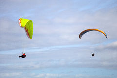 Two paragliding Royalty Free Stock Photography