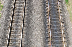 Two parallel railroads Stock Image