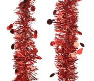 Two parallel red tinsel. Stock Photography