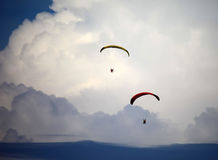 Two Paramotor Fliers Royalty Free Stock Photo