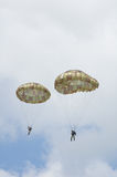 Two paratroopers Royalty Free Stock Photography
