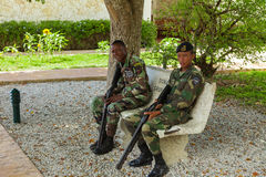 Two paratroopers in the Dominican Republic. Royalty Free Stock Images