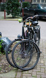Two Parked Commuter Bikes Stock Photography