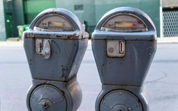 Two Parking Meters Stock Photo
