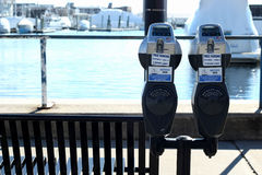 two parking meters Stock Photography
