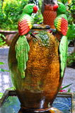 Two parrot at the jar Stock Photos