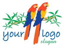 Two Parrots logo Stock Photos