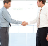 Two partners concluding a deal by shaking hands Royalty Free Stock Photography