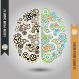 Two parts of the brain conceptual image Royalty Free Stock Image