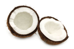Two parts of coconut Stock Photo