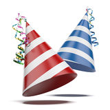 Two party hats Stock Image