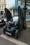 Two-passenger electric vehicle Renault Twizy Z.E. Stock Photos