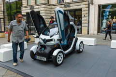 Two-passenger electric vehicle Renault Twizy Z.E. Royalty Free Stock Image