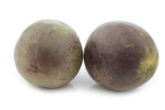 Two passion fruits Stock Photos