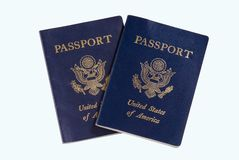 Two Passport (isolated) Royalty Free Stock Photo