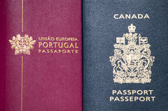 Two passports Stock Images