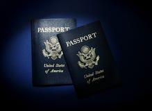 Two passports Royalty Free Stock Photos