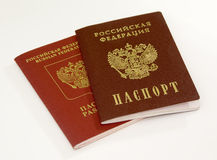 Two passports. The document of civilian Stock Photography