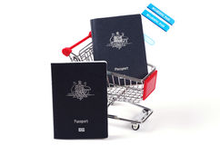 Two Passports and boarding passes Royalty Free Stock Images