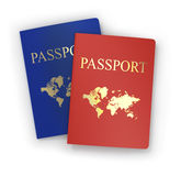Two passports isolated Stock Photos