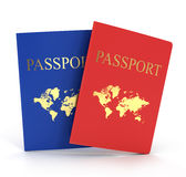 Two passports isolated Royalty Free Stock Photography