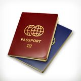 Two Passports vector illustration Royalty Free Stock Image