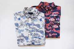 Two patterned men shirts Royalty Free Stock Photos