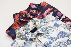 Two patterned men shirts Royalty Free Stock Photo