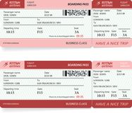 Airlane boarding pass. Vector illustration Stock Photos