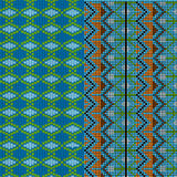Two patterns knitted Royalty Free Stock Photos
