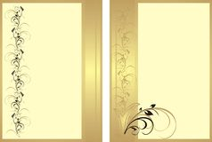 Two patterns with ornament for cards Royalty Free Stock Image