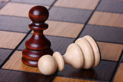 Two pawns Stock Image