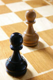 Two pawns Royalty Free Stock Image