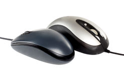 Two pc mouse Royalty Free Stock Photos