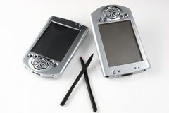 Two PDAs Stock Images